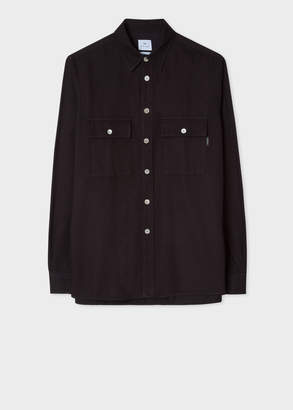 Paul Smith Men's Classic-Fit Black Patch-Pocket Cotton Shirt