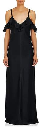 A.L.C. Women's Evana Satin Cold-Shoulder Gown - Black Size 2