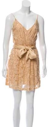 Halston Embellished Lace Dress
