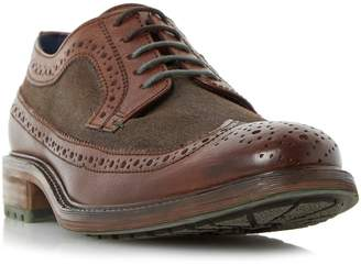 Dune MENS BONGLE - Mixed Material Chunky Sole Brogue Shoe