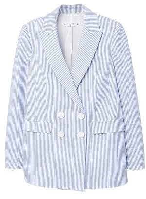 MANGO Fine-stripe suit blazer