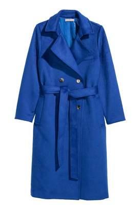 H&M H & M+ Wool-blend Coat - Cornflower blue - Women