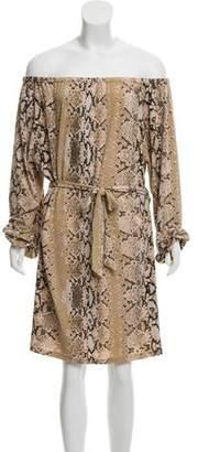 MICHAEL Michael Kors Off-The-Shoulder Animal Print Dress