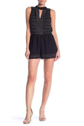 Angie Cutout Beaded Romper