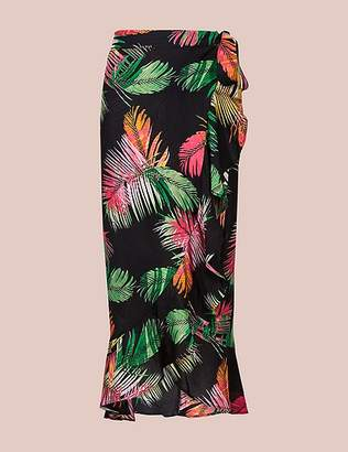 Marks and Spencer Pure Modal Palm Print Wrap Skirt