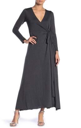 Elan International Heathered Wrap Maxi Dress