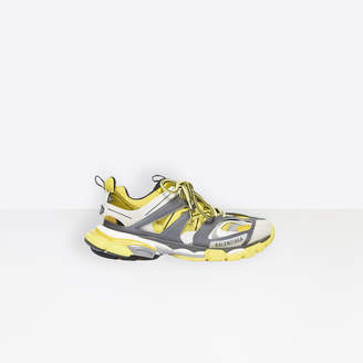 Balenciaga Track trainers in yellow, dark grey and white mesh and nylon