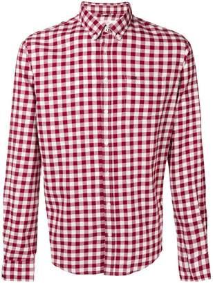 Sun 68 checked button-down shirt