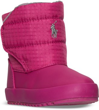 Polo Ralph Lauren Toddler Girls' Gabriel Quilted Boots from Finish Line $41.99 thestylecure.com
