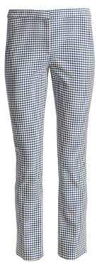 Theory Classic Skinny Gingham Pants