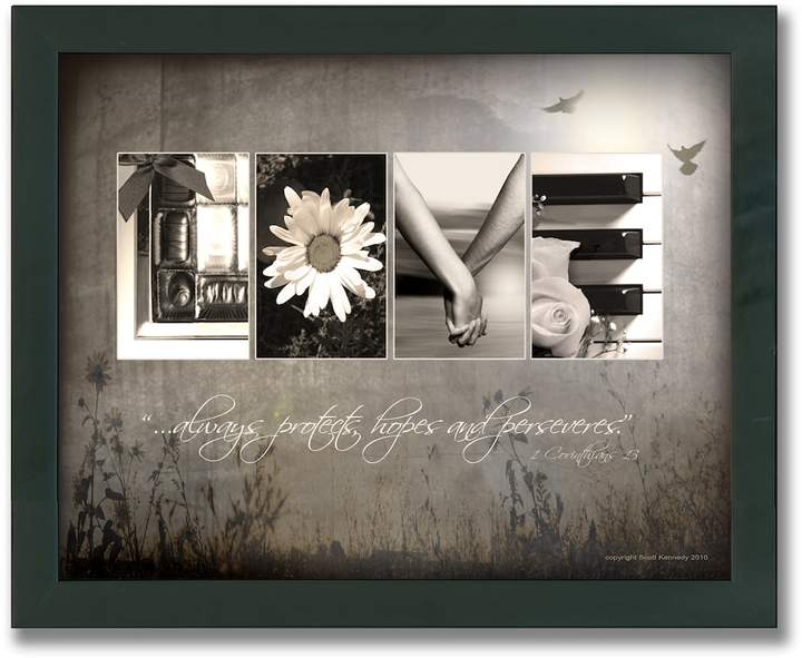 """Personal-prints """"Love Letters"""" Framed Canvas Art"""