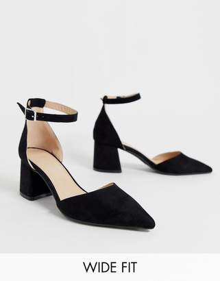 9afc799455a7 Simply Be Extra Wide Fit Simply Be extra wide fit Estee pointed block heel  shoe with