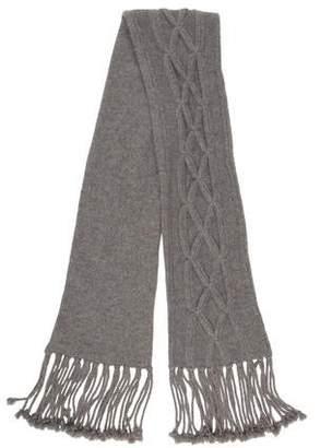Neiman Marcus Knit Fringe Scarf
