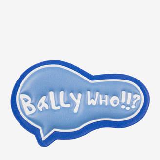 Bally Who! Leather Sticker White, Women's calf leather sticker in white