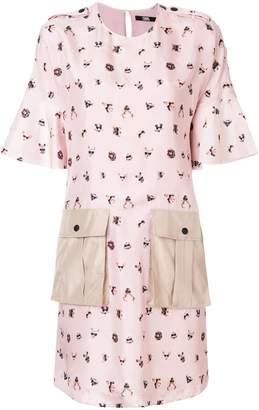 Karl Lagerfeld pets-print shift dress