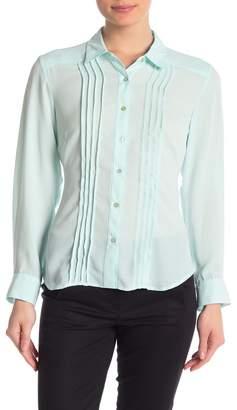 Nanette Lepore NANETTE Spread Collar Pintuck Shirt