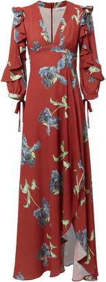 Patbo Floral Print Ruffle Maxi Dress