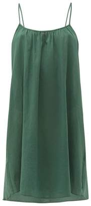 Loup Charmant Organic Cotton Slip Dress - Womens - Green