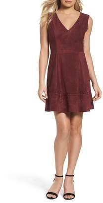 BB Dakota Lynne Faux Suede Skater Dress