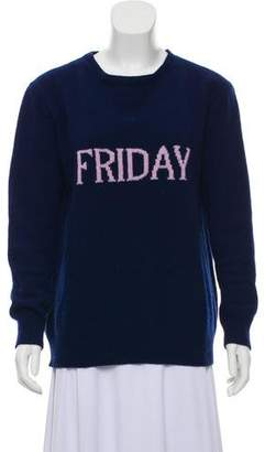 Alberta Ferretti Wool and Cashmere-Blend Friday Sweater