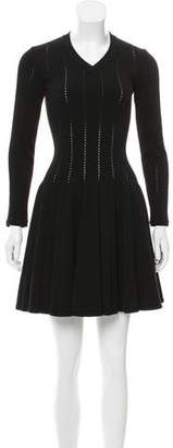 Alaia Wool Fit and Flare Dress