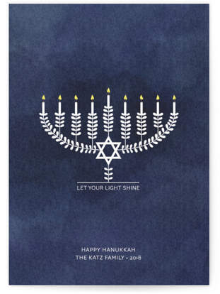 Shining Light Hanukkah Cards