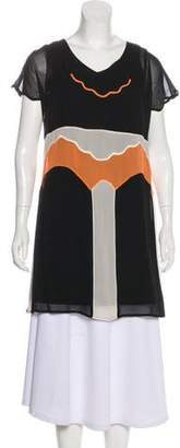 See by Chloe Colorblock Silk Tunic