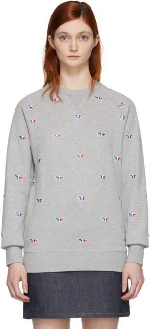 Grey All Over Fox Sweatshirt