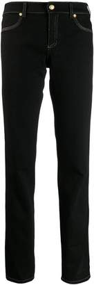 Versace contrast stitching jeans