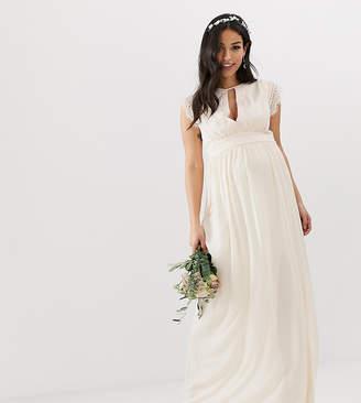 TFNC Maternity Maternity Lace Detail Maxi Bridesmaid Dress