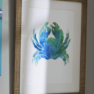 Birch Lane Crab Tie-Dyed Framed Print