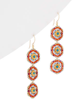 Miguel Ases 14K Gold Filled Crystal Earrings