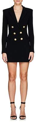 Balmain Women's Tuxedo-Inspired Crepe Dress