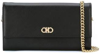 Salvatore Ferragamo Gancio flap chain wallet