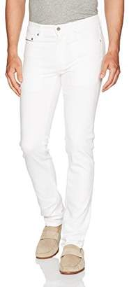 Bugatchi Men's Cotton Blend European Fit Five Pocket Denim