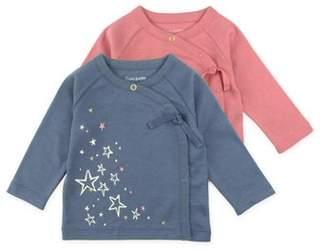 M·A·C Mac & Moon Long Sleeve Kimono Wrap Tops, 2-pack (Baby Girls)