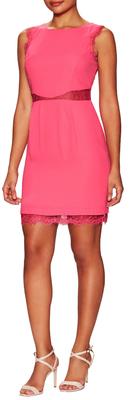 BCBGMAXAZRIAMaud Lace Trim Sleeveless Dress