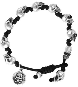 Men's King Baby Skull Bead Bracelet $500 thestylecure.com