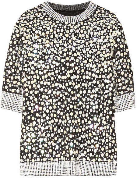By Malene Birger Bine embellished metallic knitted top