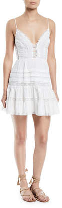 Zimmermann Iris Lace-Trim Sleeveless Mini Dress