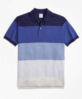 Brooks Brothers Slim Fit Supima Cotton Large Stripe Polo Shirt