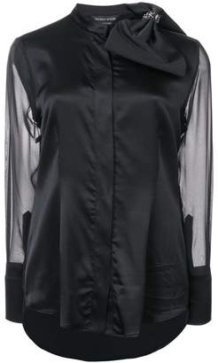 Thomas Wylde bow embellished shirt