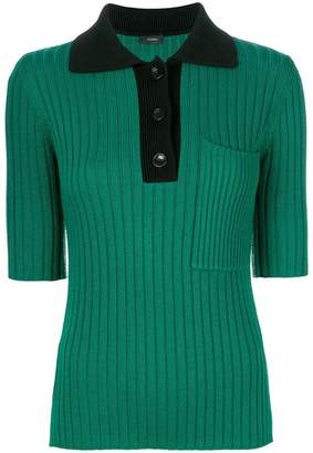 short-sleeve ribbed jumper