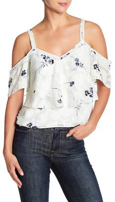 Lucky Brand Floral Cold Shoulder Blouse