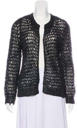 Balenciaga Open Knit Long Sleeve Cardigan