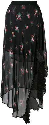 Pinko floral print ruffle skirt