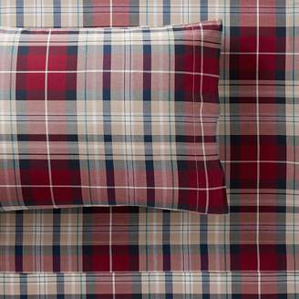 Pottery Barn Teen Field House Plaid Sheet Set, Queen, Orange