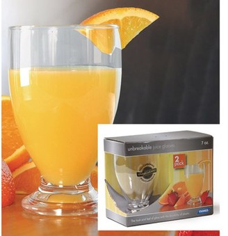 Camco 43881 7 oz Polycarbonate Juice Glass - 2 pack