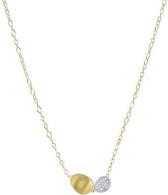 Marco Bicego Lunaria Two-Pendant Diamond Necklace