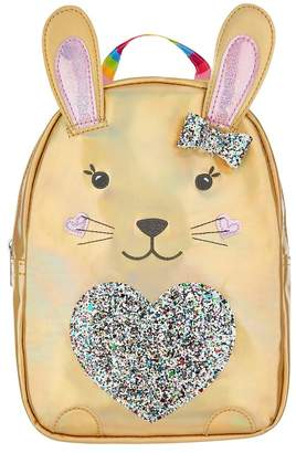 Accessorize Girls Angels by Gold Rainbow Bunny Backpack - Gold